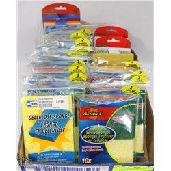 FLAT OF NEW ASSORTED SCRUB PADS