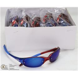CASE OF OAKLEY REPLICA SUNGLASSES, RED WITH BLUE