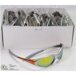 CASE OF OAKLEY REPLICA SUNGLASSES, UV400, ORANGE &