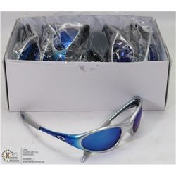 CASE OF OAKLEY REPLICA SUNGLASSES,SILVER WITH BLUE