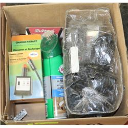 LOT OF AUTO ACCESSORIES INCL AUTO MATE CORDED