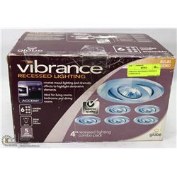 VIBRANCE RECESSED LIGHTING 6 COMBO BACK