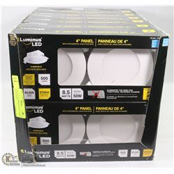 "CASE OF 14 LUMINOUS LED 4"" PANEL LIGHTS WITH"