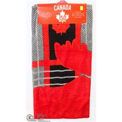 "CANADA MICRO FLANNEL THROW 50"" X 60"""