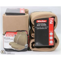 CASE OF 2PC HUDSON SEAT COVERS (TAN)