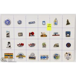 SHEET OF 24PC EXPO 86 COLLECTOR PINS