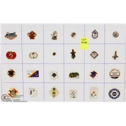 SHEET OF 24PC KNIGHTS OF COLUMBUS COLLECTOR PINS