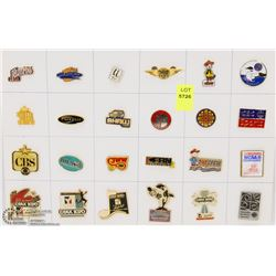 SHEET OF 24PC MEDIA COLLECTOR PINS