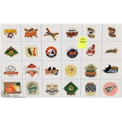 SHEET OF 24PC M.L.B. COLLECTOR PINS