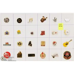 SHEET OF 24PC MUSIC COLLECTOR PINS