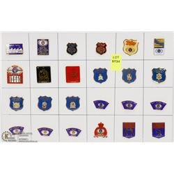 SHEET OF 24PC '89 WORLD POLICE COLLECTOR PINS