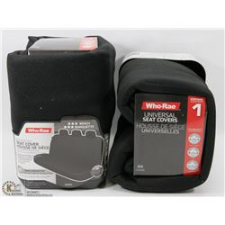 PAIR OF UNIVERSAL SEAT COVERS (BLACK)