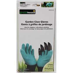 NEW 2 PAIRS OF GARDEN CLAW GLOVES
