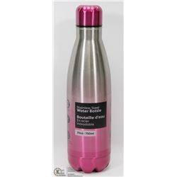 NEW 750ML STAINLESS STEEL WATER BOTTLE (PINK)