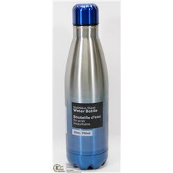 NEW 750ML STAINLESS STEEL WATER BOTTLE (BLUE)