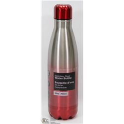 NEW 750ML STAINLESS STEEL WATER BOTTLE (RED)