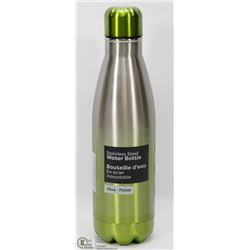 NEW 750ML STAINLESS STEEL WATER BOTTLE (GREEN)