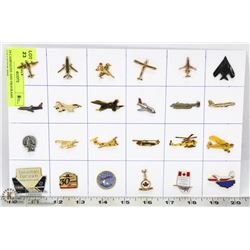 24 AVIATION COLLECTOR PINS
