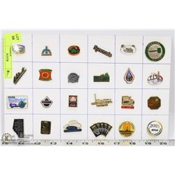 24 COMPANIES COLLECTOR PINS