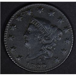 1822 LARGE CENT XF