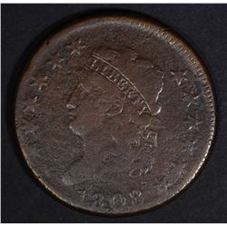1808 LARGE CENT FINE, SOME POROSITY