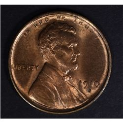 1910-S LINCOLN CENT CH/GEM BU RD
