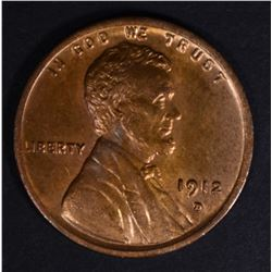 1912-D LINCOLN CENT CH/GEM BU RB