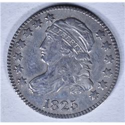 1825 BUST DIME XF CLEANED