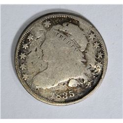 1835 BUST DIME, FINE