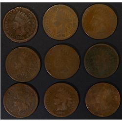 1-1873, 2-74, 1-76 & 5-1879 INDIAN CENTS