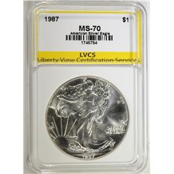 1987 AMERICAN SILVER EAGLE LVCS PERFECT