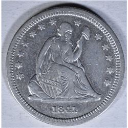 1841-O SEATED QUARTER  XF
