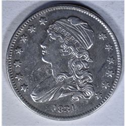 1831 CAPPED BUST QUARTER  AU+