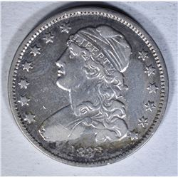 1833 CAPPED BUST QUARTER  AU