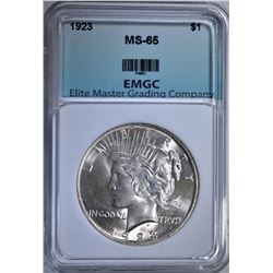 1923 PEACE DOLLAR EMGC GEM BU