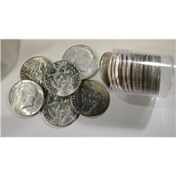 BU ROLL OF MIXED 40% SILVER HALVES: 1968-69