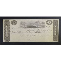 1810-15 $1 JAMES MONROE POST BANK NOTE