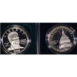 (2) Proof Silver Dollar Commemoratives