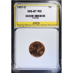 1957-D LINCOLN CENT LVCS SUPERB GEM