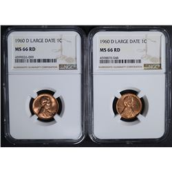 2 - 1960 D Lg Dt LINCOLN CENTS NGC