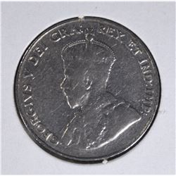 1925 CANADA FIVE CENTS  FINE