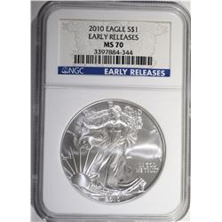 2010 AMERICAN SILVER EAGLE NGC MS 70