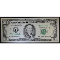 1993 $100 FEDERAL RESERVE NOTE (F)