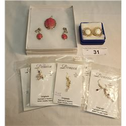 6 Sets of Assorted Custume Jewelry/ Pendant w/ Earings