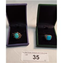 2 Turquoise Rings