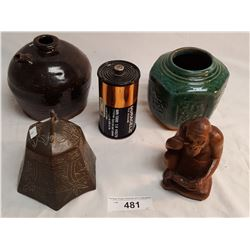 Asian Pottery, Bell & Radio