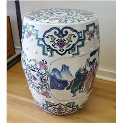 Asian Porcelain Garden Stool