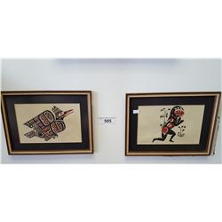 Two Native Prints By J. Johnny & Tim Paul