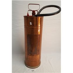 Vintage Copper Fire Extinguisher