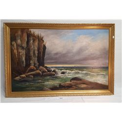 Oil Painting on Board Signed W.J.Baker 1905